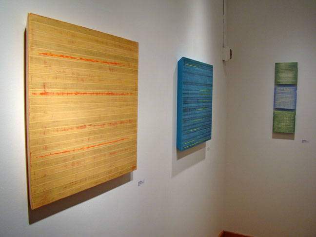 Susan Schwalb art on bevelled wood panels at K. Imperial Fine Art Gallery. - San Francisco Art Galleries - First Thursday Art Openings